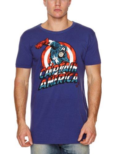 Logoshirt - Camiseta de Capitán América para hombre
