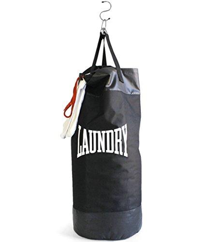 Bolsa de boxeo colgante de lavandería, color negro