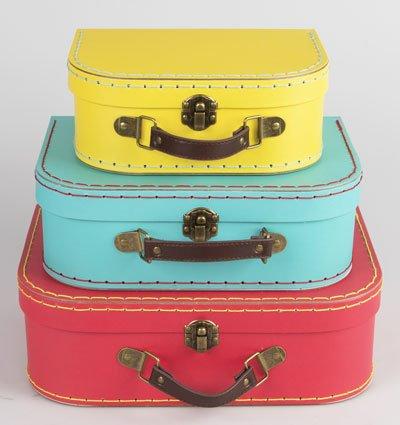 S & B - Set de cajas con diseño de maleta retro