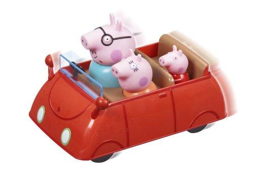 Coche Rojo Papá, Mamá y  Peppa Pig