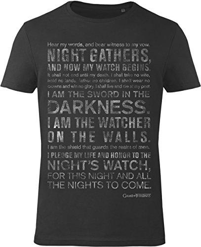 Camiseta Juego de Tronos - Night`s Watch Oath