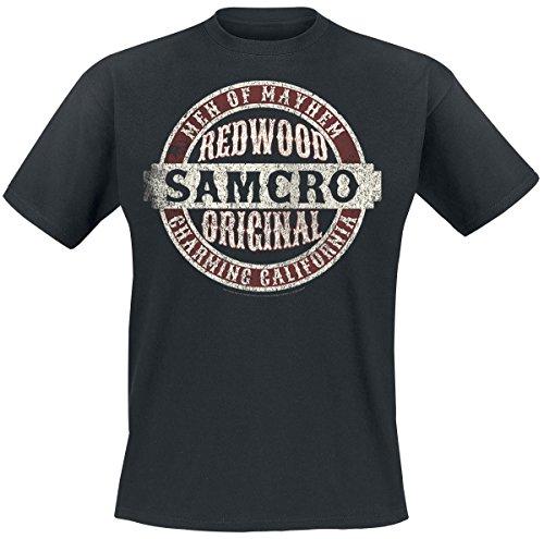 Sons Of Anarchy Samcro Original Camiseta Negro