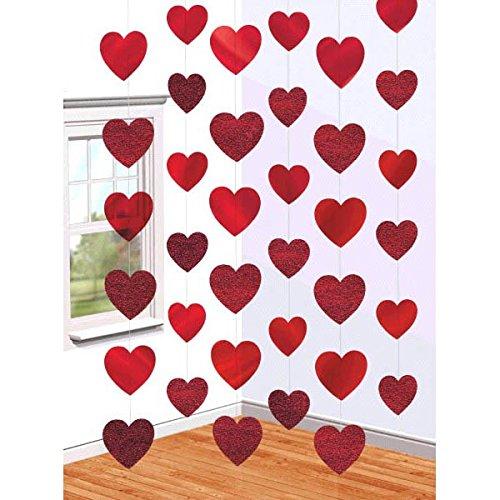 Guirnaldas decorativas, diseño de corazones