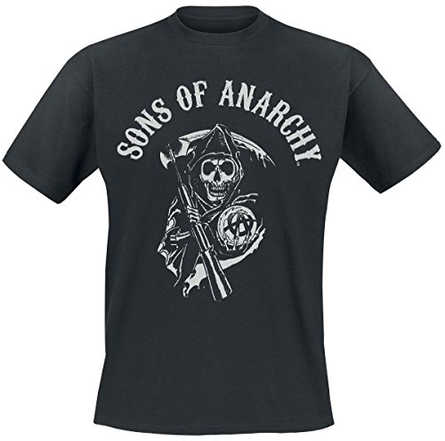 Sons Of Anarchy Reaper Logo Camiseta Negro
