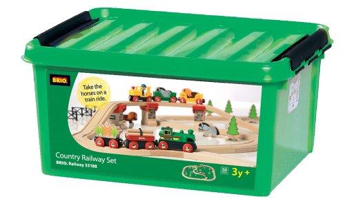 Brio 33188 - Juego de tren de madera grande (50 piezas)