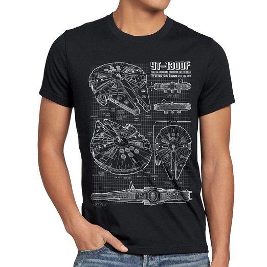 Camiseta Star Wars Halcón Milenario