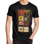 Game of Thrones Family Sigils - Camiseta manga corta para hombre, color negro, talla L