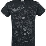 Juego de Tronos Westeros Map Camiseta Negro XL
