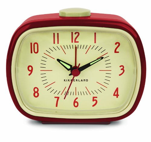 Kikkerland KKAC08-R-EU - Despertador retro, color rojo