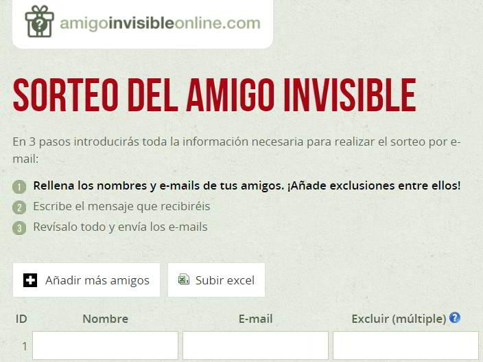 ¿Cómo organizar el sorteo del amigo invisible? Artículos Días Especiales