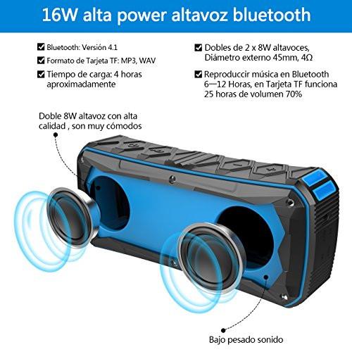 NickSea Altavoz Bluetooth Portátil
